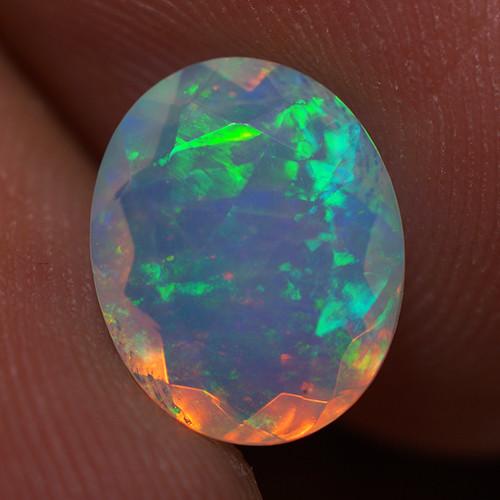 1.59 CT 10X8 MM Good Quality Faceted Cut Ethiopian Opal-EBF396