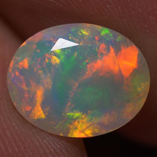 1.70 CT 10X8 MM Good Quality Faceted Cut Ethiopian Opal-EBF398