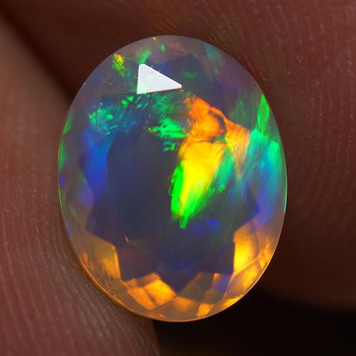 1.95 CT 10X8 MM Good Quality Faceted Cut Ethiopian Opal-EBF400