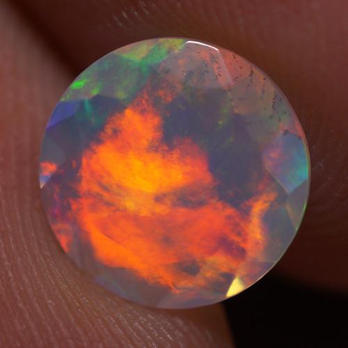 1.00 CT 8X8 MM Good Quality Faceted Cut Ethiopian Opal-EBF407