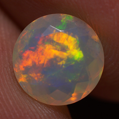 1.30 CT 8X8 MM Good Quality Faceted Cut Ethiopian Opal-EBF413