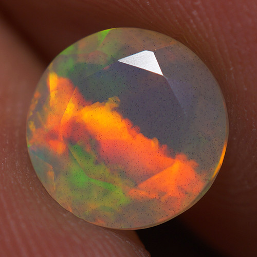 1.32 CT 8X8 MM Good Quality Faceted Cut Ethiopian Opal-EBF414