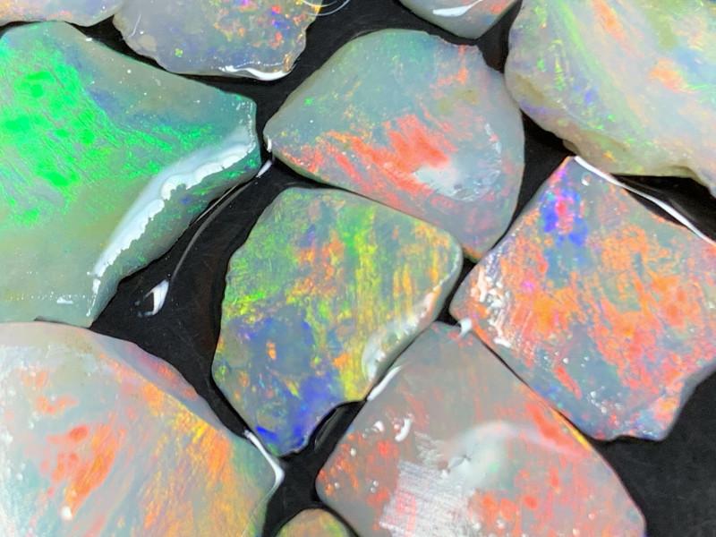 31Cts High End White Cliffs Rough Opals,#440