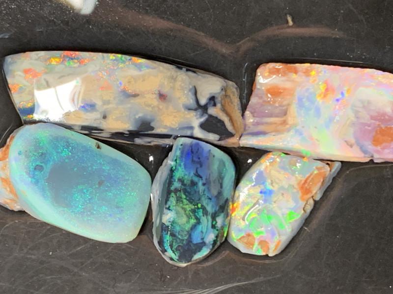 60 CTs of Solid/Natural Lightning Ridge Rough/Rub Opals, #447