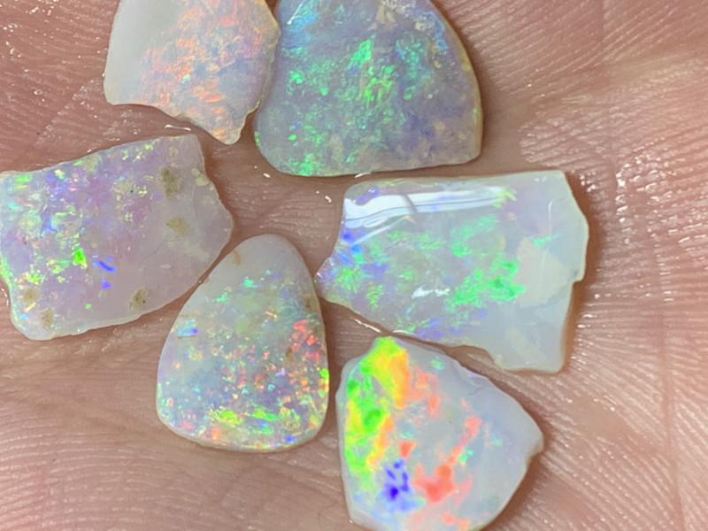 15.5 Cts of High End White Cliffs Opal Rubs,#456