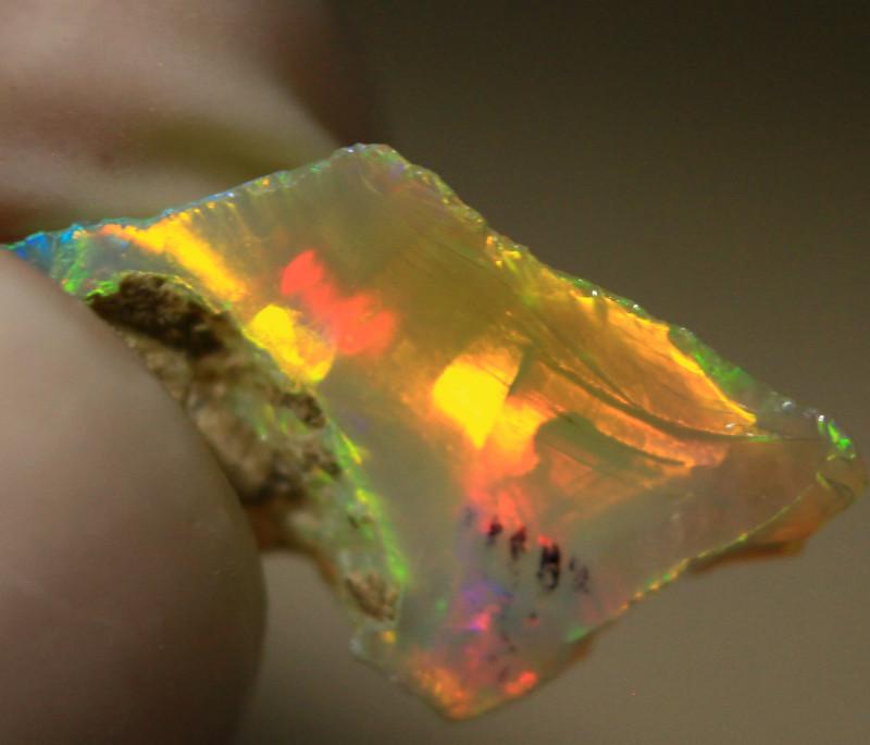 NR   Ct. 2.70   ST215  Rough Ethiopian Wello Opal  -   Gem Grade