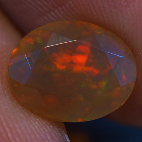 1.62 CT 10X8MM BROWN BASE  Welo  Ethiopian Faceted Opal -EBF374