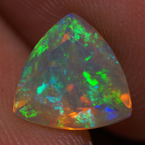 8X8 MM Good Quality Faceted Cut Ethiopian Opal-EBF379
