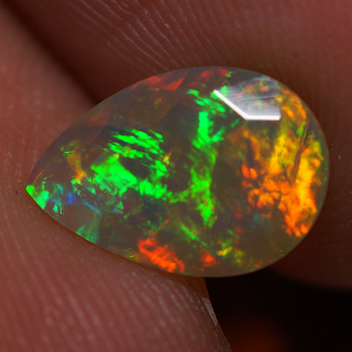 1.25 CT 10X7MM Good Quality Faceted Cut Ethiopian Opal-EBF380