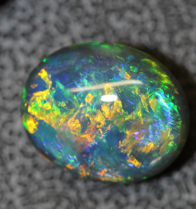 4.75ct CHINESE WRITING Black Solid Opal Lightning Ridge Australia