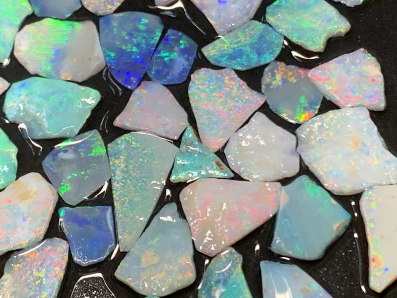 51 Cts Doublet Material;High End White Cliffs thin Opals,#467