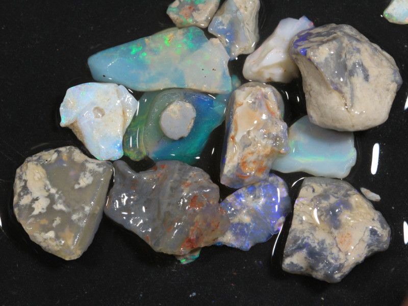87ct Mixed Australian Craft Rough Opal[21624]