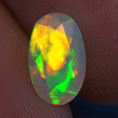 1.23 CT 10X6MM Good Quality Faceted Cut Ethiopian Opal-EBF422