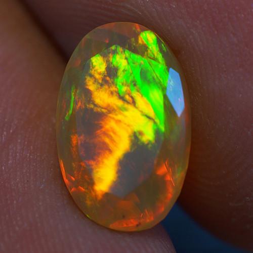2.13 CT 11X7MM Good Quality Faceted Cut Ethiopian Opal-EBF426