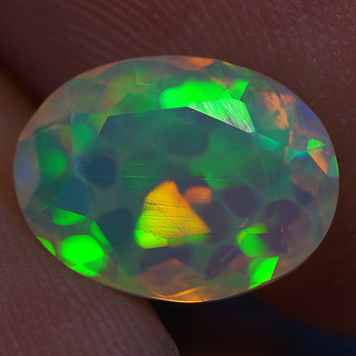 1.62 CT Honeycomb Pattern Rare Quality Faceted Cut Ethiopian Opal-EBF427