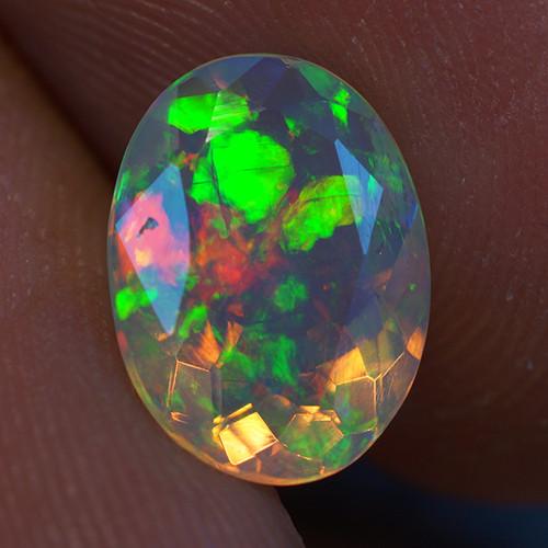 1.40 ct Good Quality Faceted Cut Ethiopian Opal-EBF431