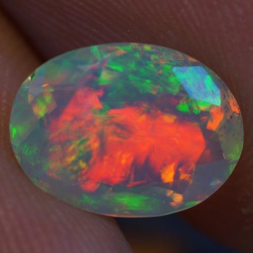 1.37 Good Quality Faceted Cut Ethiopian Opal-EBF432