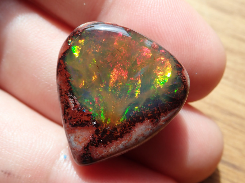 $1 NR Auction 21.45 cts Mexican Matrix Cantera Multicoloured Fire Opal