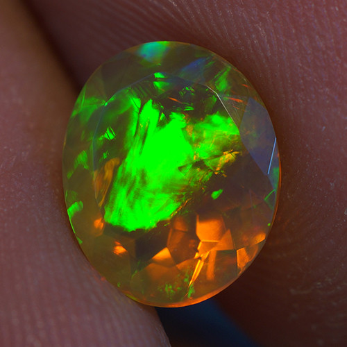 1.44 ct Good Quality Faceted Cut Ethiopian Opal-EBF434
