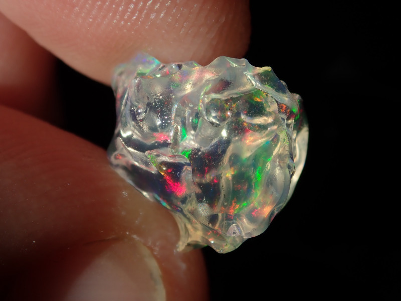 9.26ct Mexican  Multicoloured Rough Fire Opal