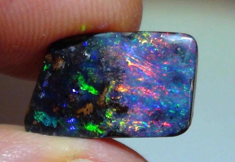 4.45 ct Gem Multi Color Queensland Boulder Opal