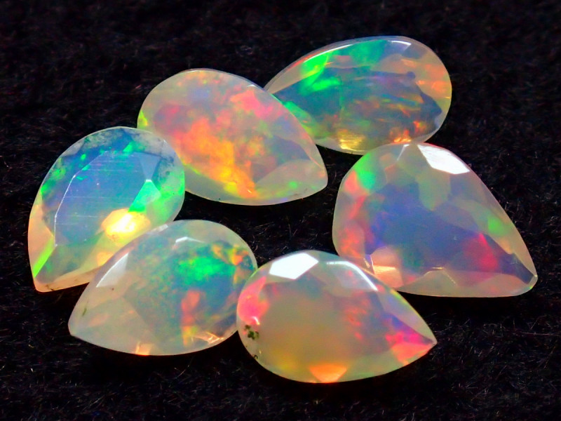 MIXED SIZE 1.70CT NATURAL CALIBRATED FACETED ETHIOPIA UNTREATED OPAL