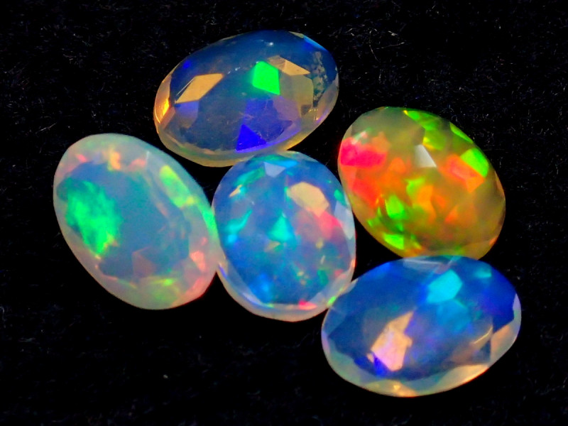 MIXED SIZE 2.45CT NATURAL CALIBRATED FACETED ETHIOPIA UNTREATED OPAL