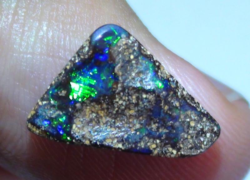 3.05 ct Gem Blue Green Color Queensland Boulder Opal