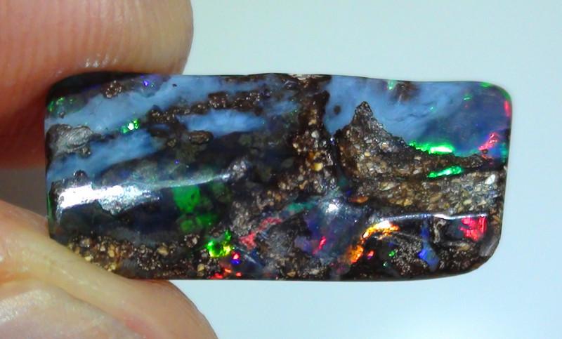 3.90 ct Gem Multi Color Queensland Boulder Opal
