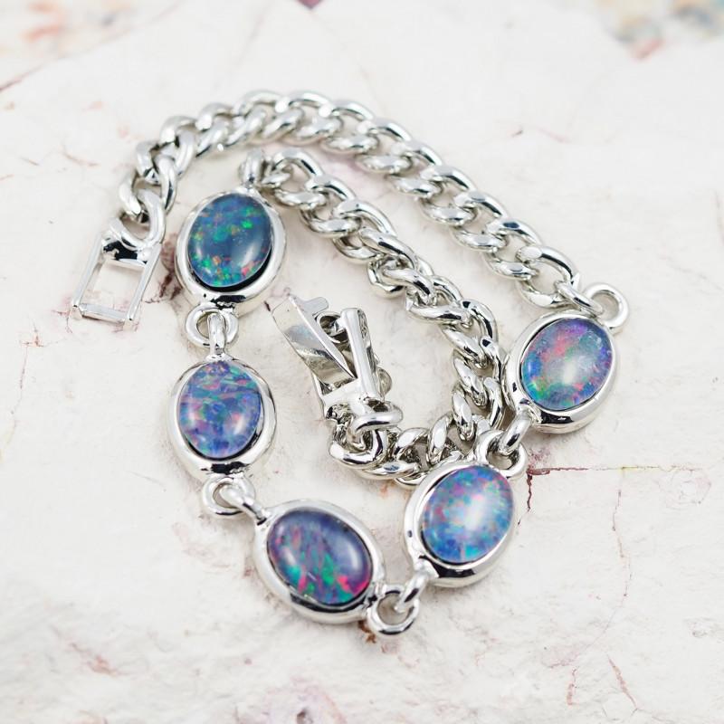 Australian Triplet Opal in Creative Strong Bracelet WS1003