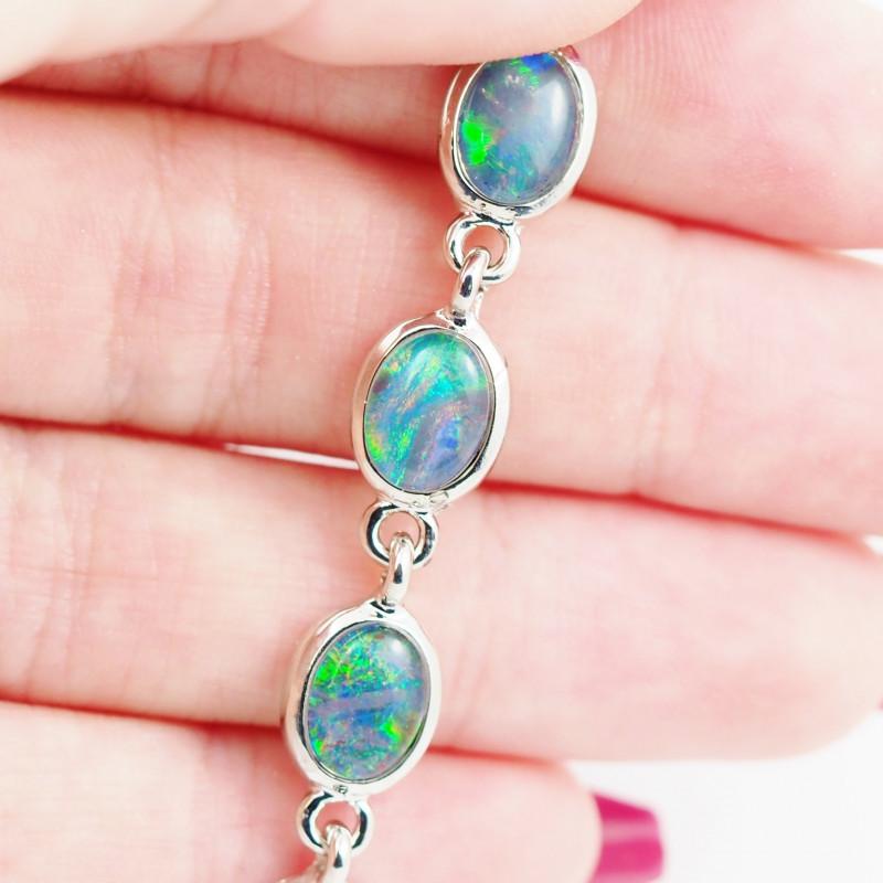 Australian Triplet Opal in Creative Strong Bracelet WS1007