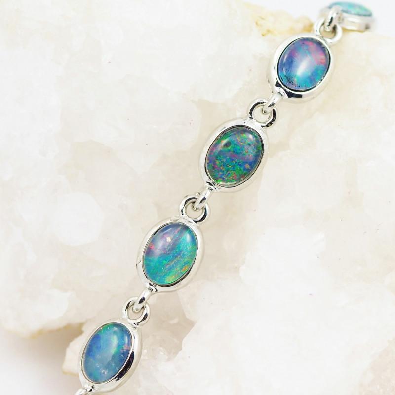 Australian Triplet Opal in Creative Strong Bracelet WS1008