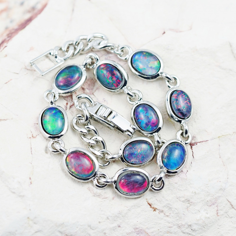 Australian Triplet Opal in Creative Strong Bracelet WS1010