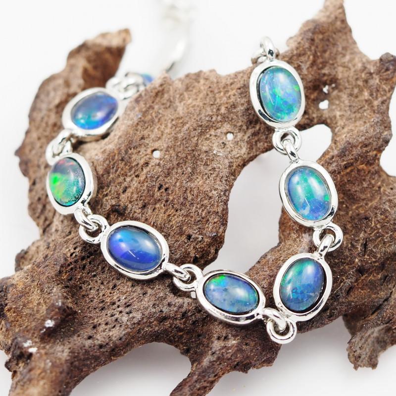Australian Triplet Opal in Creative Strong Bracelet WS1011