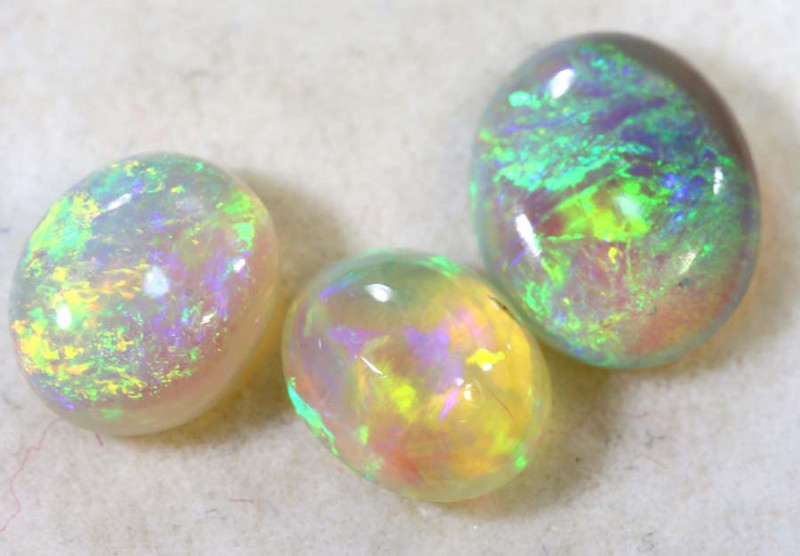 1.55-CTS  CRYSTAL OPALS  POLISHED  PARCEL TBO-9172