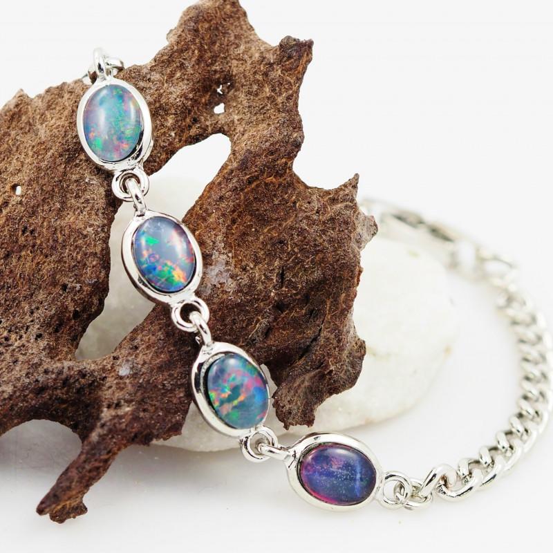 Australian Triplet Opal in Creative Strong Bracelet WS1015