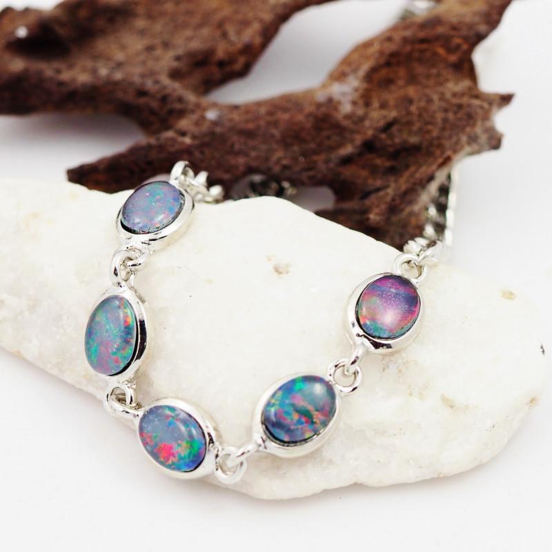Australian Triplet Opal in Creative Strong Bracelet WS1016