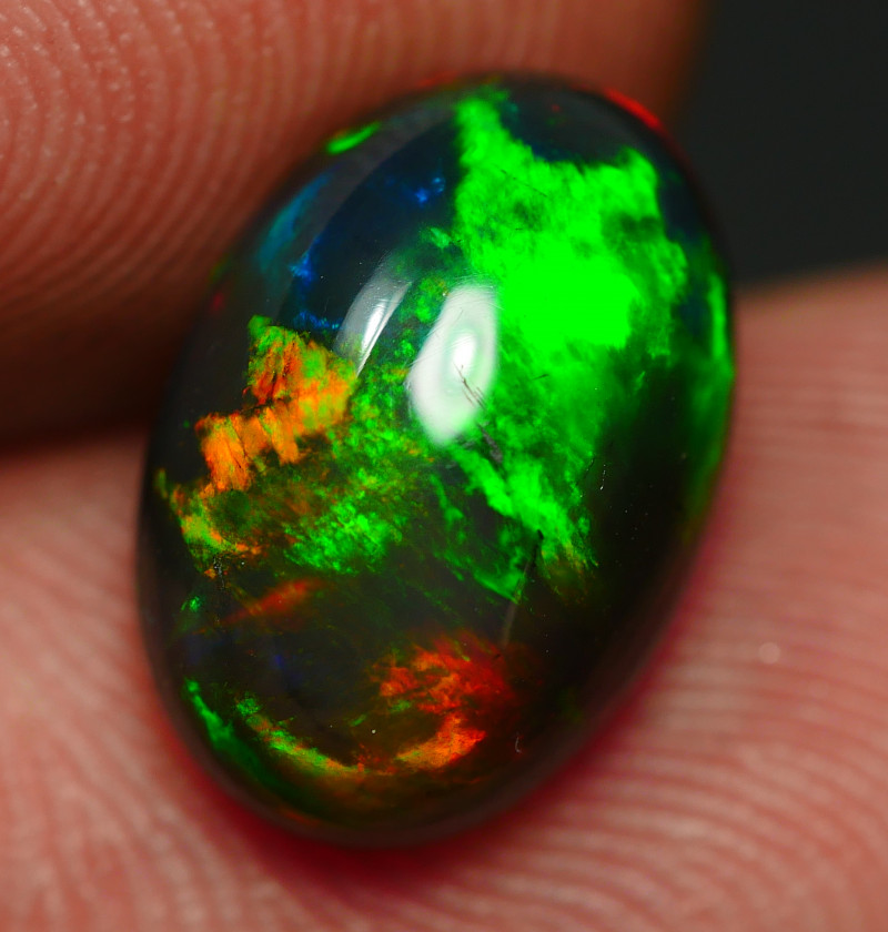 2.50 CRT BEAUTY SMOKED BROAD FLASH FLORAL FIRE WELO OPAL*14