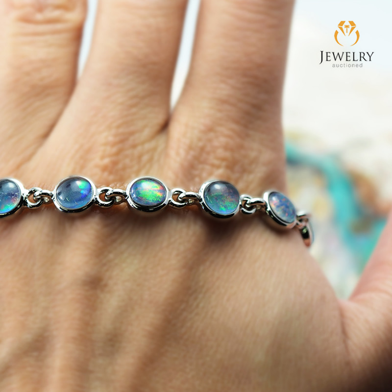 Australian 10pc Triplet Opal in Creative Strong Bracelet am872