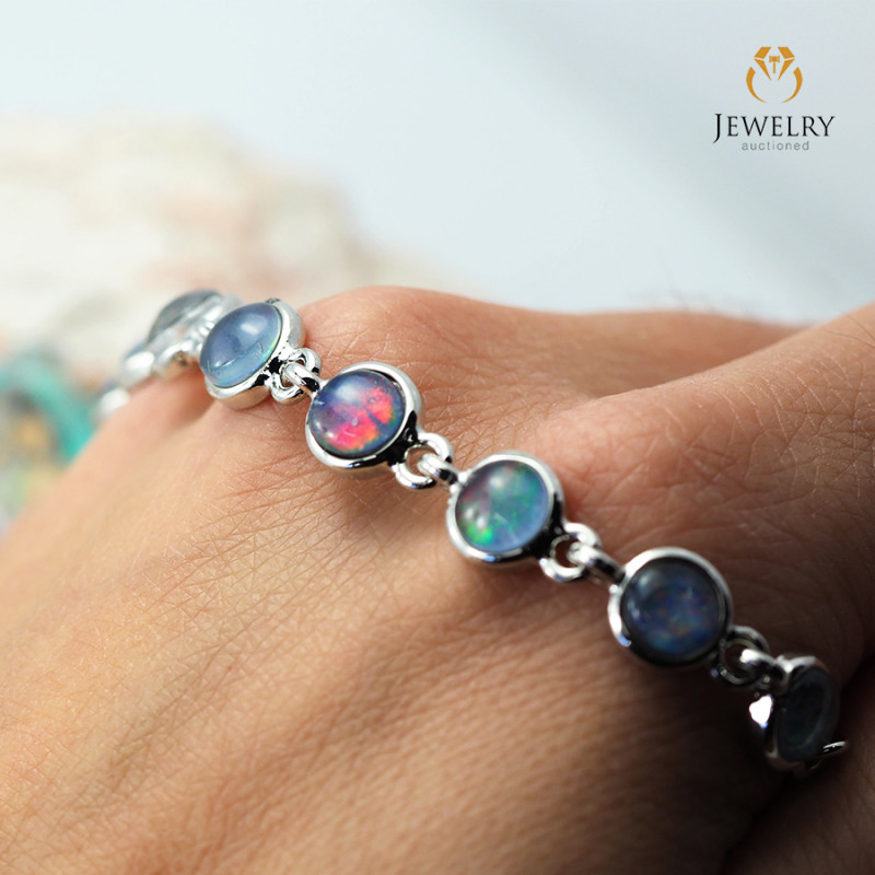 Australian 10pc Triplet Opal in Creative Strong Bracelet am873