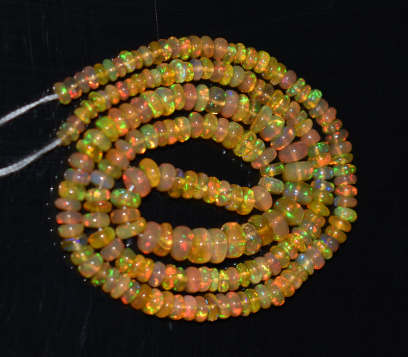 30.0 Ct Natural Ethiopian Welo Opal Beads Play Of Color