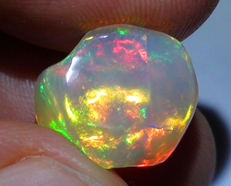 6.80 ct Super Bright Gem Color Carved Free form Welo Opal
