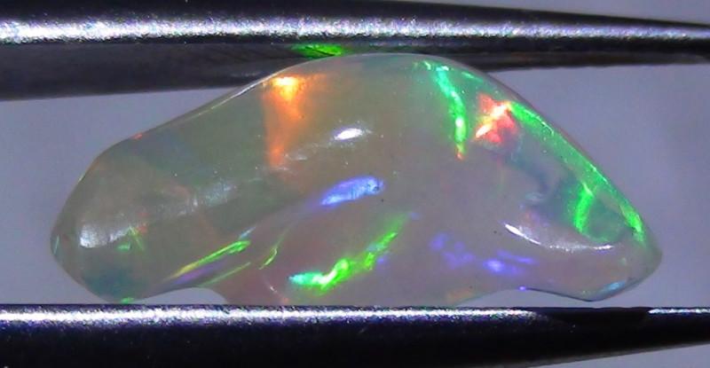 2.25 ct Ethiopian Gem Color Carved Freeform Welo Opal