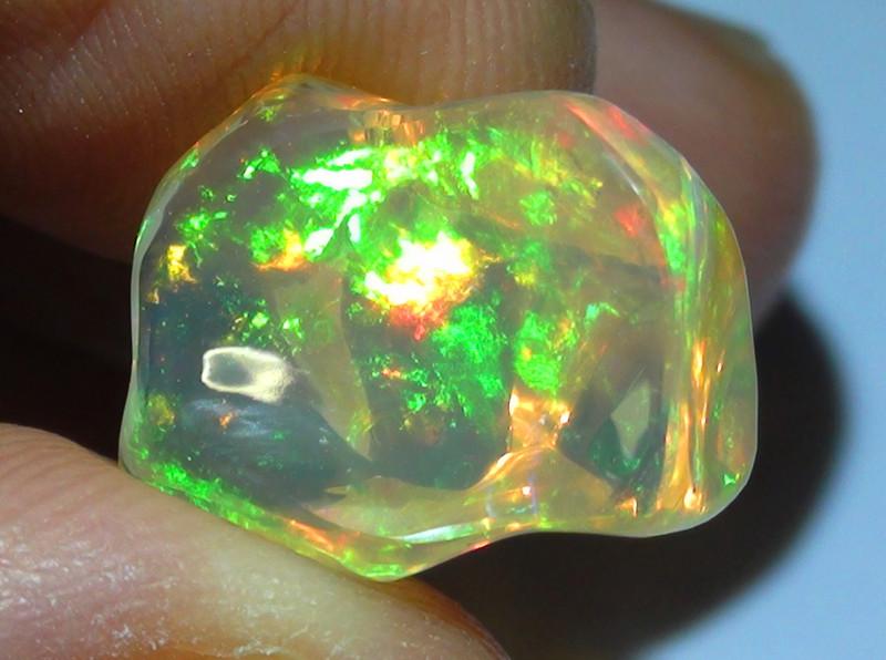 7.80 ct Ethiopian Gem Color Carved Freeform Welo Opal
