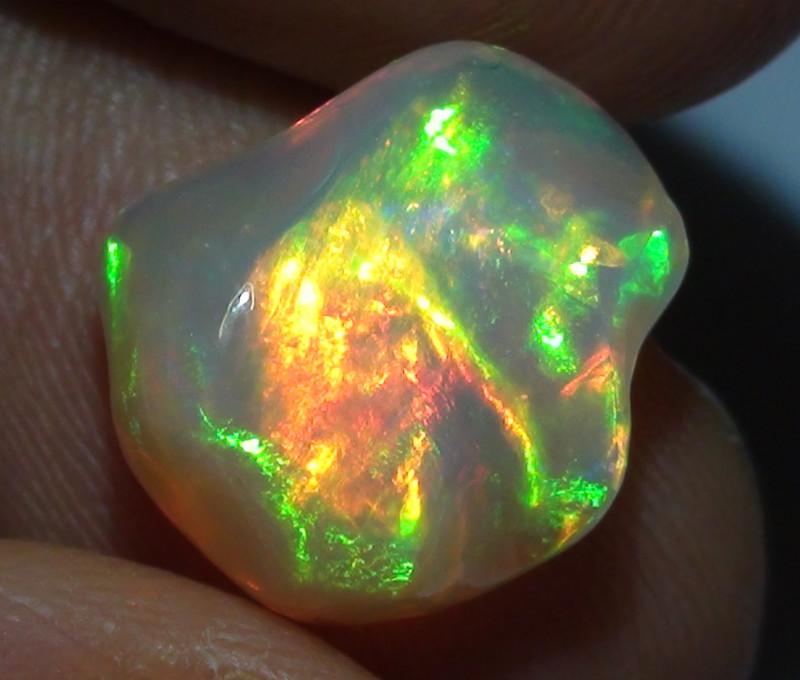 5.15 ct Ethiopian Gem Color Carved Freeform Welo Opal