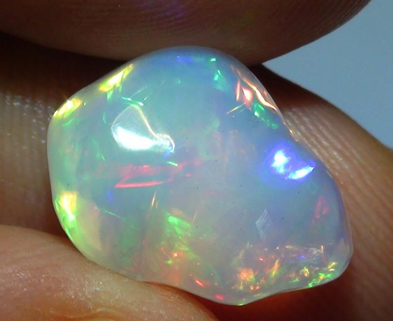 4.60 ct Ethiopian Gem Color Carved Freeform Welo Opal