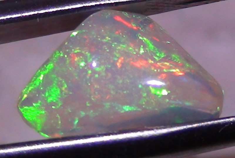 2.60 ct Ethiopian Gem Color Carved Freeform Welo Opal