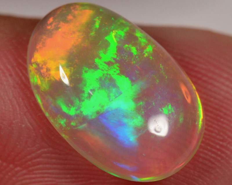 3.1 Ct - Extremely Bright Saturated Ethiopian Welo Crystal Opal