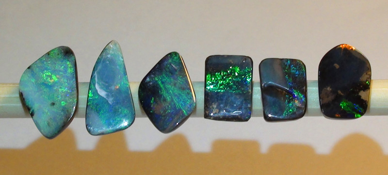 11.05 ct 6 Beautiful Boulder Opal Parcel