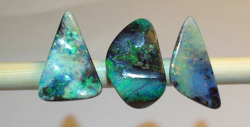 12.30 ct 3 Beautiful Boulder Opal Parcel